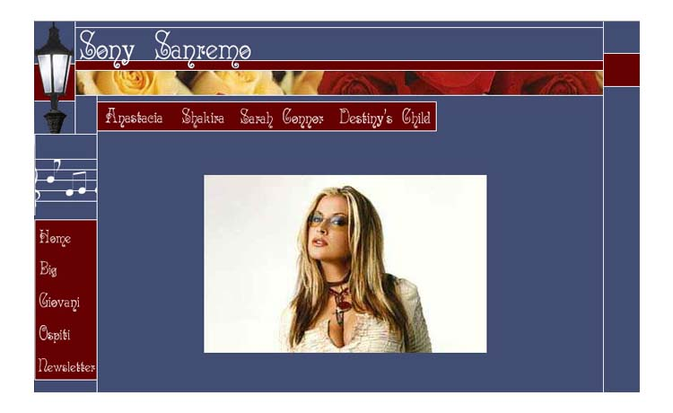 Sanremo internal page